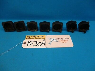 Lot of 7 Various Elgin 8 Day Mechanical Clock Cases Housings FOR PARTS (15304)