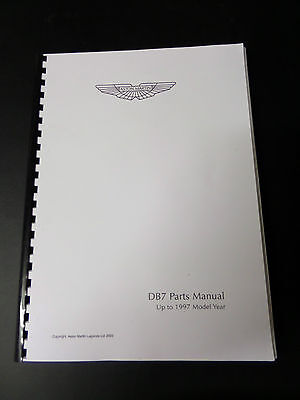 Aston Martin DB7 parts catalogue up to 1997 model
