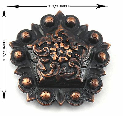 """Berry Concho Lot Of 6 Pcs Antique Copper  Pentagon Western Leather Craft 1 1/2 """""""