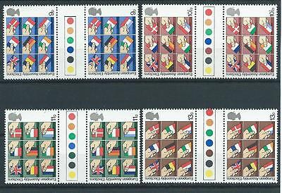wbc. - GB - COMMEMS - 1979 - EEC ELECTIONS - GUTTER PAIRS - T/L  - UNM MINT SETS