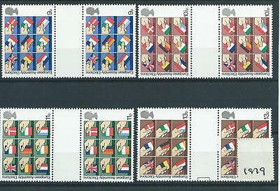 wbc. GB - COMMEMS - 1979 - EEC ELECTIONS - GUTTER PAIRS   - UNM. MINT SETS