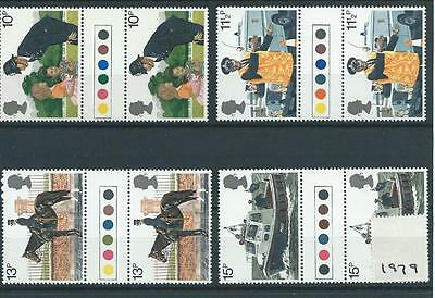 wbc. -  GB - COMMEMS - 1979 - POLICE - GUTTER PAIRS- T/ LIGHTS  - UNM MINT SETS