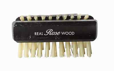 Hydrea London Dual-Sided Rosewood Exfoliating Nail Brush w/ Natural Bristle