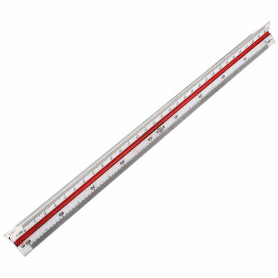 Architects Plastic 3 Sides 6 Scales Triangular Ruler 320mm Long