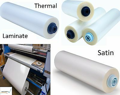 "3mil Satin Clear Thermal Heat Activated Laminate Polyester Film Roll 62"" x 250ft"