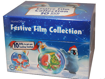 Christmas Festive Film Collection 10 DVD Box Set  Grinch, Scooby, Tom Jerry Etc