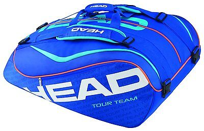 HEAD TOUR TEAM MONSTERCOMBI tennis racquet bag -12 rackets - Reg $90