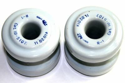 TD 10 Pack Of 8oz. No.5107 Porcelain Spool and Guy Strain Wet Process Insulators