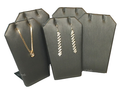"""Lot Of (5) Grey Earring Display Metal Base Pendant Stand Jewelry Display 3 1/4""""t"""