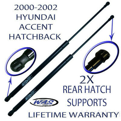 2 Two New Rear Door Hatch Lift Supports Trunk Arm Rod For 00-02 Accent Hatchback