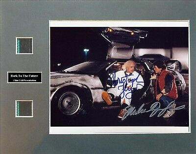 Back To The Future Signed Photo Film Cell Presentation