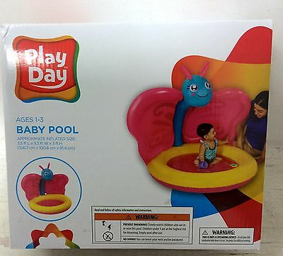 Play Day Inflatable Baby Pool Butterfly Shade 1-3 Years Make Nice Ball Pitt also