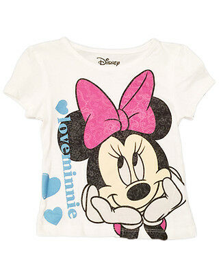 "DISNEY's MINNIE MOUSE Girl's Toddler Graphic Print Cotton Shirt 4T ""Mickey Love"""