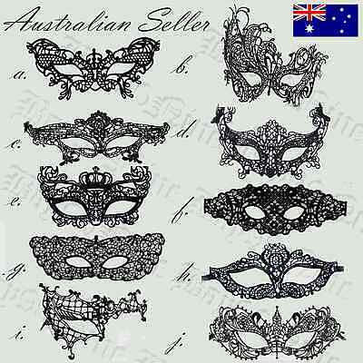 BLACK and WHITE Lace Fifty Shades Darker Party Ball Masquerade Mask Fancy Dress