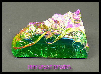 Peacock Colors Vitrail Medium Rainbow Lighthouse Paperweight Lilli Heart Designs