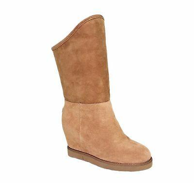 b0aa38057dcf Australia Luxe Collective Women s Sexy Cosy Tall Wedge Shearling Boots  Shoes NEW