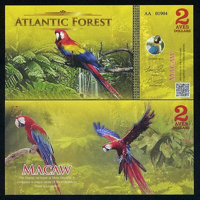 Atlantic Forest 2 Aves Dollars 2015 - Macaw, Birds