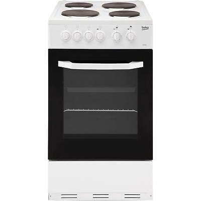 Beko BS530W 50cm A Rated Single Electric Cooker with 4 Burners in White