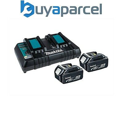 Makita BL1850 18v 2 x LXT 5.0ah Lithium-Ion Batteries + DC18RD Dual Port Charger