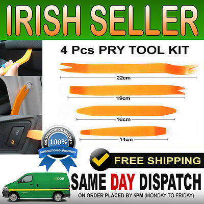 4Pc Motorguard Auto Car Door Body Trim Panel Dashboard Clip Removal Pry Tool Kit