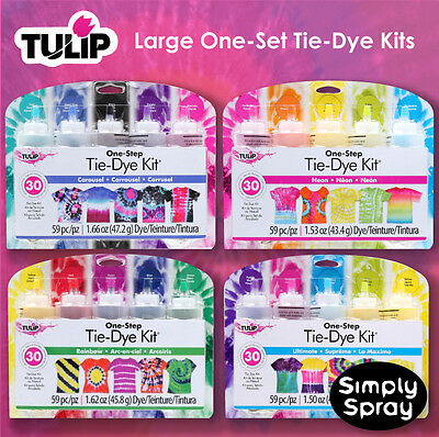 Tie Dye Kit 8 combinations.Tulip 5 colour pack FREE POST-dyes up to 30 t-shirts