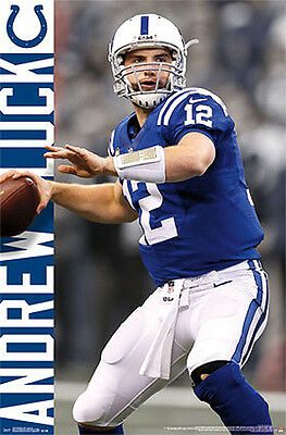 """Andrew Luck poster wall art home decor photo print 24x24/"""" inches"""