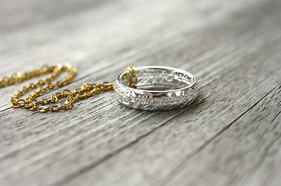 The One Ring - Tolkien Inspired Ring Necklace (SILVER)