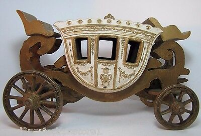 Old West Wooden Carriage Buggy Wagon Display Toy horse drawn nicely detailed