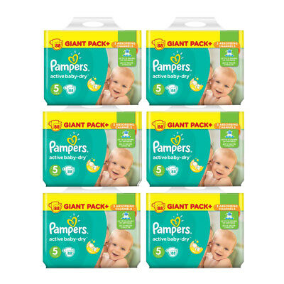 Pamper Active Baby Dry Junior Gr. 5 11-18 kg Sparpack 88-528 Windeln Monatsbox
