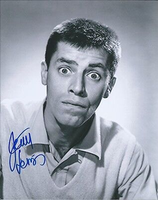 Jerry Lewis The King of Comedy autographed 8x10 photo with COA by CHA