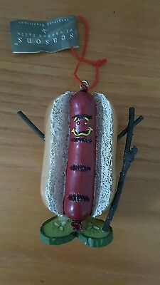 Hot DOG Ornament Figural Resin  NEW Midwest Of Cannon Falls