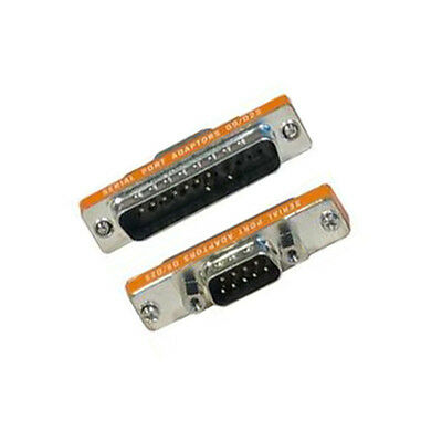 RS232 Serial DB9 Male to DB25 Male Adapter Converter Connector