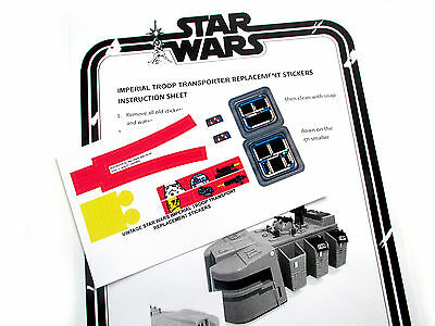 CUSTOM STAR WARS VINTAGE 'DIE CUT' STICKERS for IMPERIAL TROOP TRANSPORTER