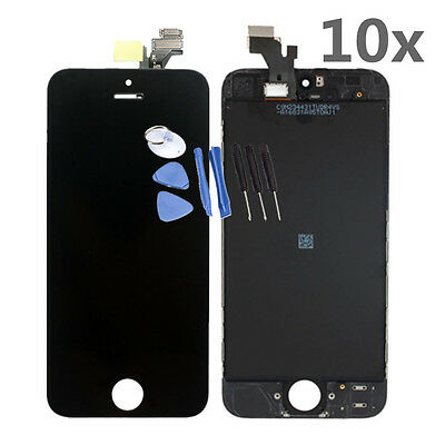 LOT 10x For iPhone 5 Replacement LCD Screen Touch Assembly Glass Digitizer Black