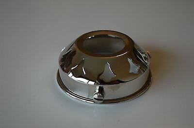 Classic Antique Style Chrome Glass Light Shade Gallery 2 1/4 Inch Lamp Shade Nr5
