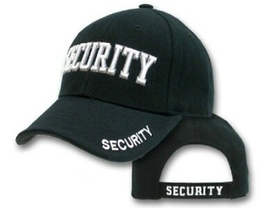 Security Cap - HI VIS - Black - One Size Fits All