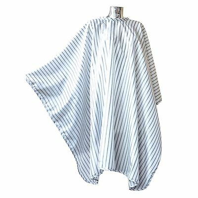 Hairdressing Cape Vintage Barber Pin Stripe Hairdressing WHITE Gown No Sleeves