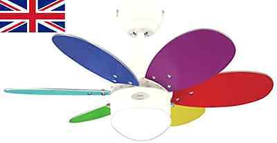Westinghouse Turbo Ii 76 Cm/ 30-inches Ceiling Fans, White-multi Coloured/ Wash