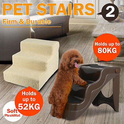 Portable Steps Dog Cat Doggy Multi Pet Stairs Ramp Ladder Washable Plush Cover