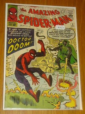 Amazing Spiderman #5 Fn- (5.5) October 1963 Dr Doom Marvel Comics*
