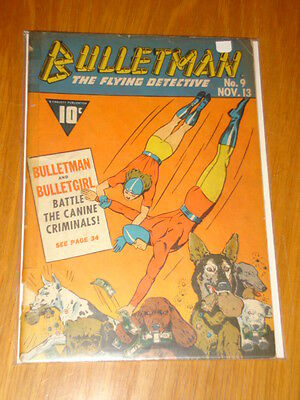 Bulletman The Flying Detective #9 G- (1.8) 1942 Novemeber 13Th Fawcett*