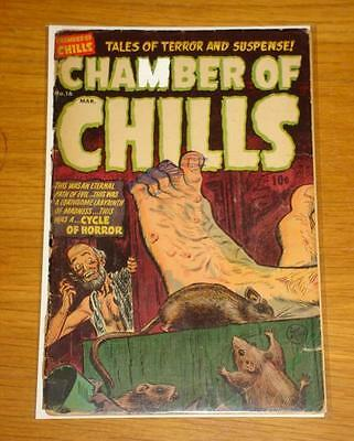 Chamber Of Chills #16 G (2.0) Harvey Publications Repaired Mar 1954*