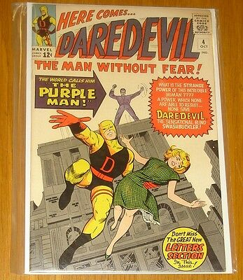 Daredevil #4 Vf+ (8.5) October 1964 Man Without Fear Purple Man Marvel Comics*