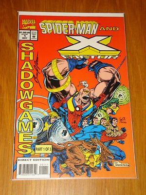 Spiderman X-Factor Shadow Games #1 Version B Df Signed Bruce Patterson Marvel