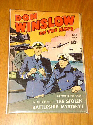 Don Winslow Of The Navy #5 Vg (4.0) 1943 July Fawcett*