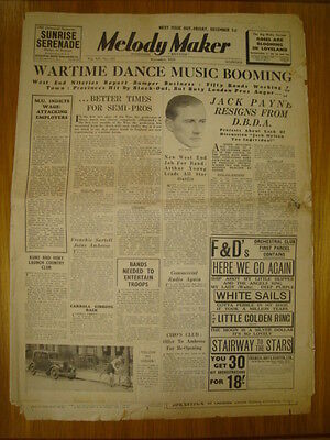 Melody Maker 1939 #331 Jack Payne Harry Leader Jazz