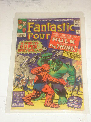 Fantastic Four #25 Fn (6.0) Hulk Vs Thing April 1964 Jack Kirby*