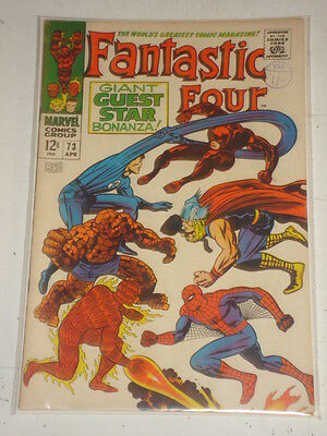 Fantastic Four #73 Fn (6.0) Spiderman Thor April 1968 Jack Kirby*