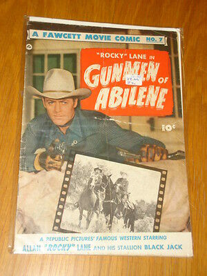 Fawcett Movie Comic #7 Gunmen Of Abilene Vg- (3.5) Rocky Lane 1950*