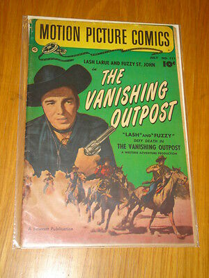 Motion Picture Comics #111 The Vanishing Outpost Vg+ (4.5) 1952 July Fawcett*